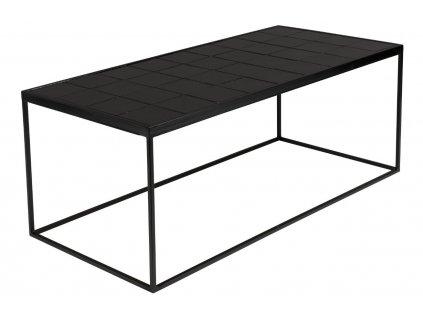 Černý konferenční stolek Zuiver Glazed MDF keramický obklad kovová konstrukce