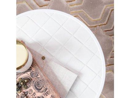 Bílý odkládací stolek ZUIVER GLAZED s keramickým obkladem