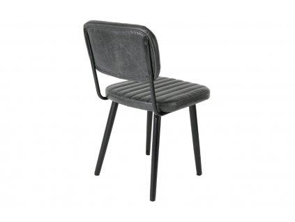 Černá čalouněná židle WLL Jake Worn
