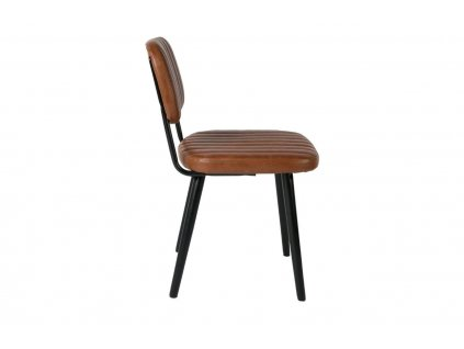 Hnědá čalouněná židle WLL Jake Worn