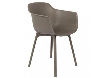 Béžová plastová židle WLL MAE