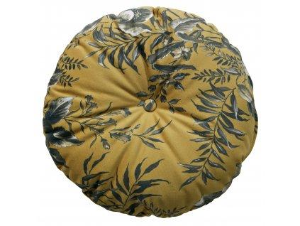 Žlutý kulatý polštář Tergi