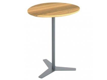Odkládací stolek Dera, přírodní/šedá 45x38 cm