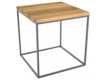 Šedý kovový konferenční stolek Elegia