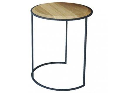 Šedý odkládací stolek Rondi