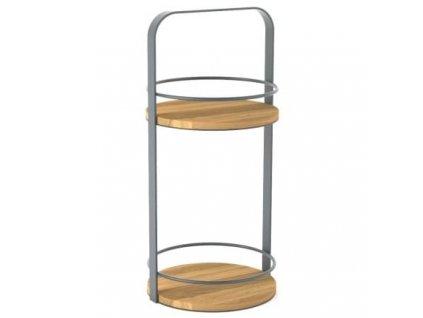 Šedý odkládací stolek Rondi 30 cm