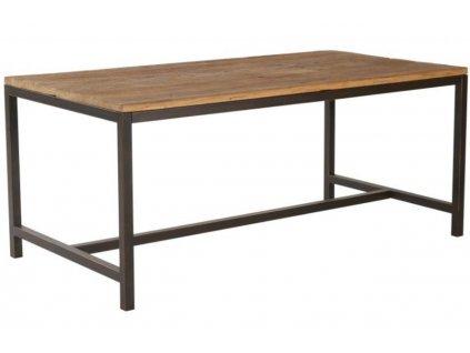 Hnědý dřevěný jídelní stůl Kalma 180x90 cm