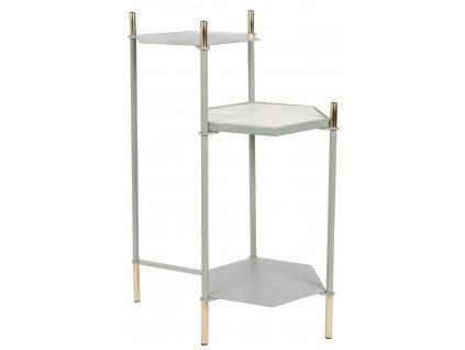 Šedý odkládací stolek ZUIVER HONEYCOMBs mramorovoudeskou ve tvaru šestiúhelníku