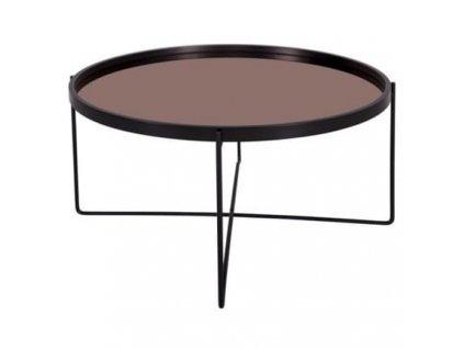 Konferenční stolek Vivien O 74 cm, měděná