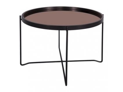 Konferenční stolek Vivien O 59 cm, měděná