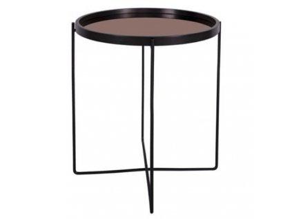 Měděný konferenční stolek Vivien O 50 cm