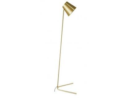Zlatá kovová stojací lampa Noemi