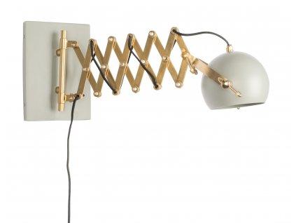 Šedá nástěnná lampa WLL Sarana