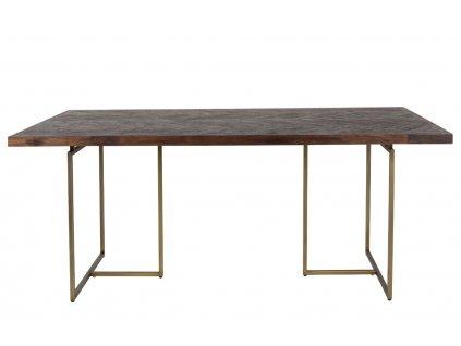 Hnědý jídelní stůl DUTCHBONE CLASS 220x90 cm akátová dýha