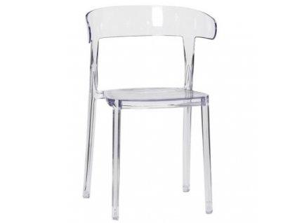 Jídelní židle Hübsch Luga, transparentní
