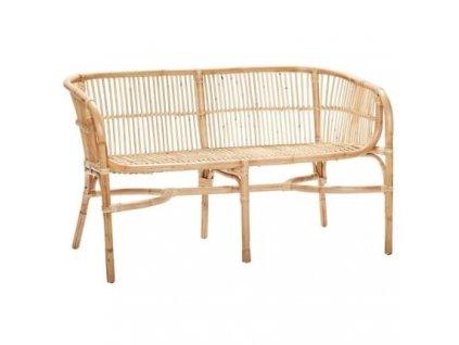 Přírodní ratanová lavice Hübsch Becky