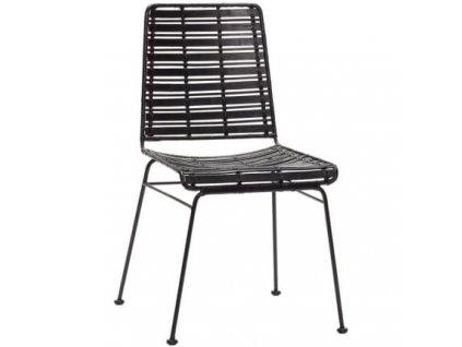 Židle Hübsch Venla, černá