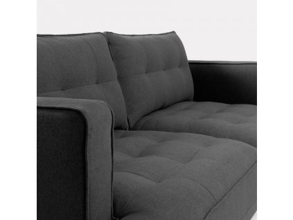 Tmavě šedá čalouněná pohovka LaForma Vinny 183 cm