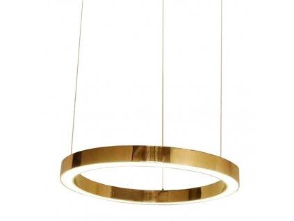 Mosazné závěsné světlo Edeon 60 cm, kovové lakované