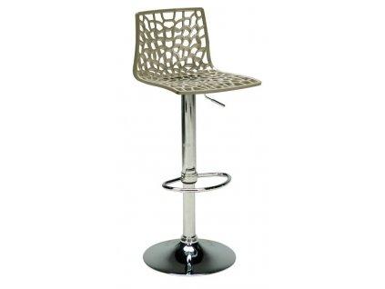 Šedá plastová barová židle Coral