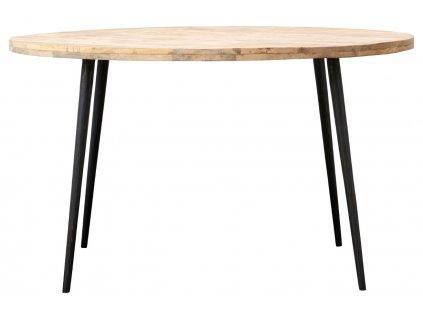 Mangový kulatý jídelní stůl Club 130 cm