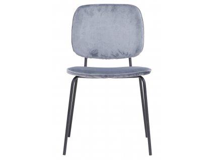 Světle modrá jídelní židle Comma