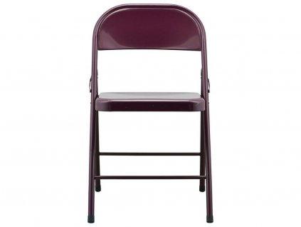 Vínová kovová židle Fold it