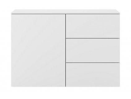 Bílá dřevěná komoda Lettia 120 x 50 cm