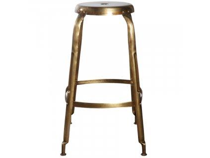Mosazná barová stolička Define 75 cm