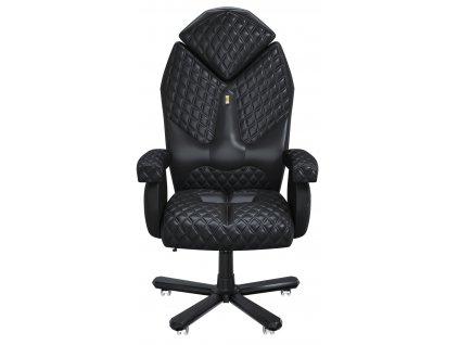 Černé koženkové kancelářské křeslo Diamond