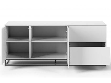 Bílá dřevěná komoda Lettia II 160 x 50 cm