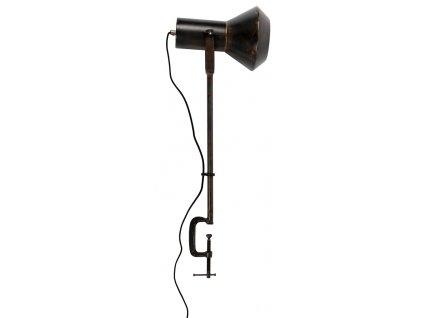 Černá stolní lampa DUTCHBONE VOX, celokovová, černá patina