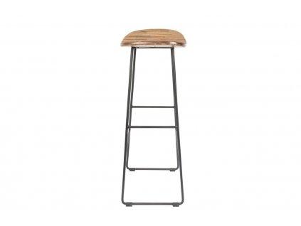 Přírodní dřevěná barová židle WLL TANGLE 80 cm s černou podnoží