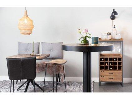 Přírodní dřevěná barová židle WLL TANGLE 65 cm