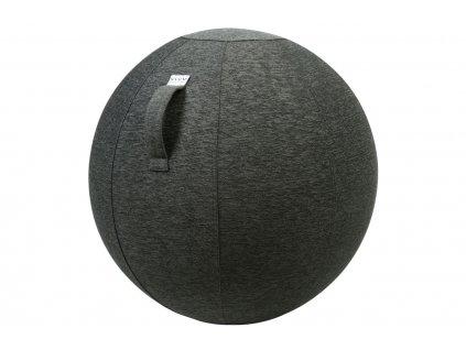 Antracitový sedací / gymnastický míč VLUV STOV Ø 75 cm