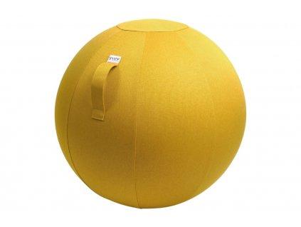 Hořčicově žlutý sedací / gymnastický míč  VLUV LEIV Ø 65 cm