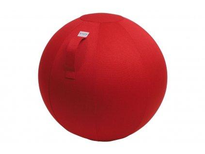 Červený sedací / gymnastický míč VLUV LEIV Ø 65 cm