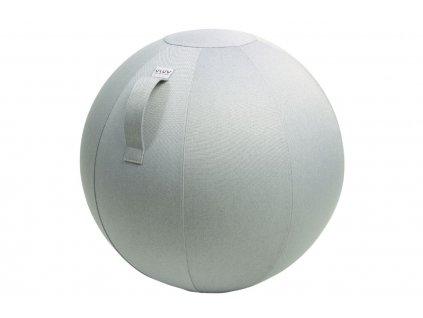Stříbrný sedací / gymnastický míč  VLUV LEIV Ø 65 cm