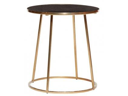 Zlatý kovový konferenční stolek Hübsch Thallo 46 cm