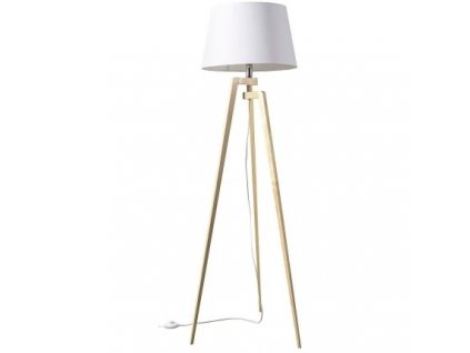 Stojací lampa LF 21, přírodní podnož, bílá