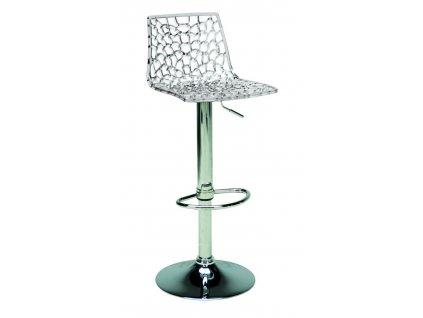 Barová židle Coral, transparentní