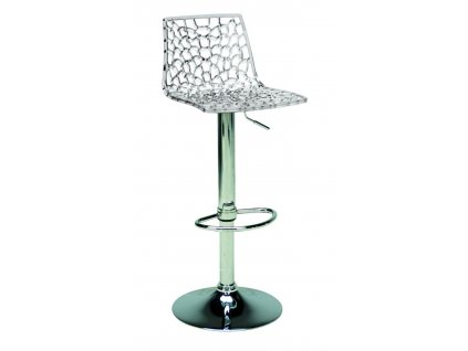 Transparentní plastová barová židle Coral