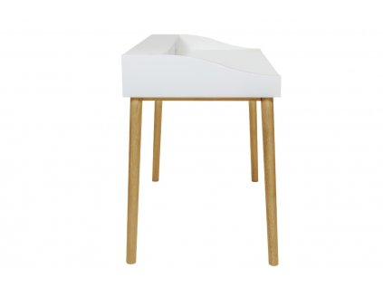 Bílý dubový pracovní stůl Woodman Lindenhof 120x60 cm