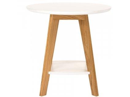Bílý konferenční stolek Woodman Kensal 55 cm s dubovou podnoží848x848 (6)