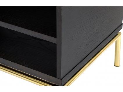 Tmavý dubový konferenční stolek Woodman Pilmico 100x44 cm