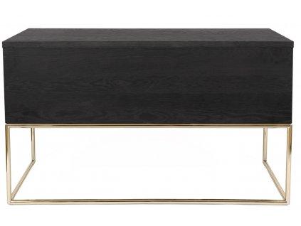 Tmavý dubový pracovní stůl Woodman Pilmico 130x62 cm