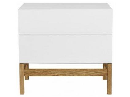 Barový stůl Woodman Grande, bílá/dub