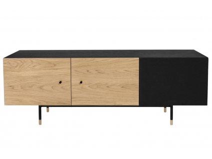 TV stolek Woodman Jugend, dub/černá 90x42 cm