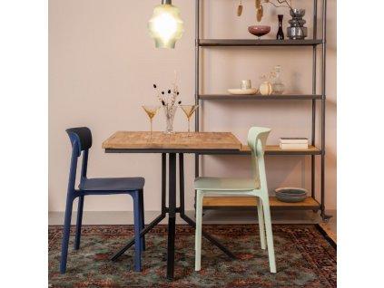 Přírodní dřevěný jídelní stůl WLL MAZE SQUARE 75x75 cm