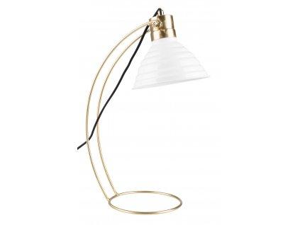 Bílá stolní lampa WLL Curly
